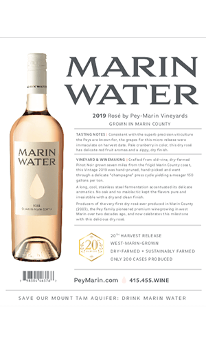 2019 Marin Water Rosé Technical Notes